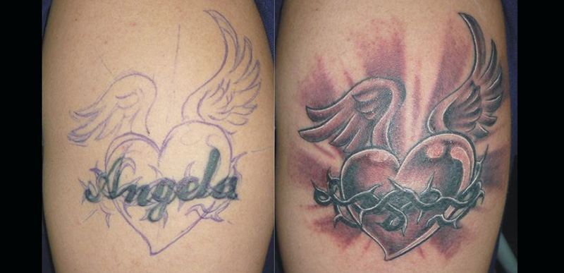 30 Incredible Ideas to Cover-up Name Tattoos of your Ex 5