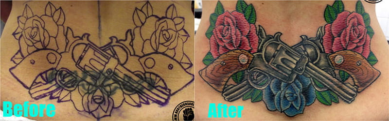 30 Incredible Ideas to Cover-up Name Tattoos of your Ex 33