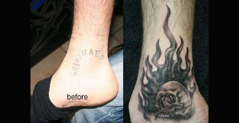 30 Incredible Ideas to Cover-up Name Tattoos of your Ex 10