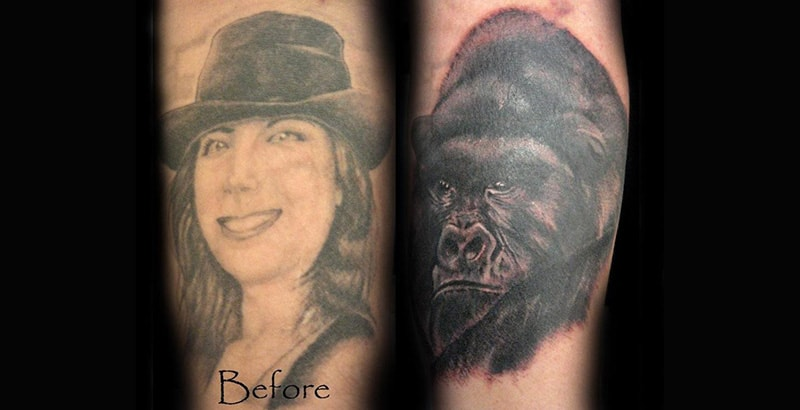30 Incredible Ideas to Cover-up Name Tattoos of your Ex 16