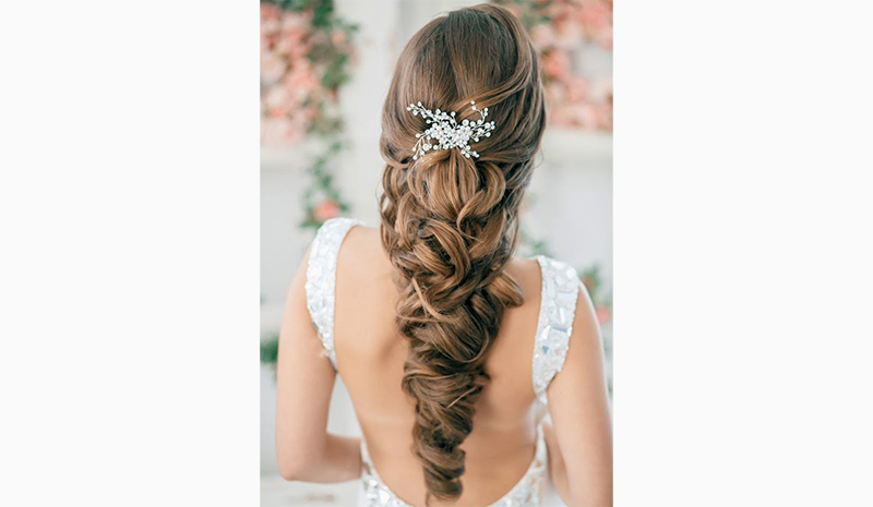Wedding Hairstyles for Long Hair Down 11