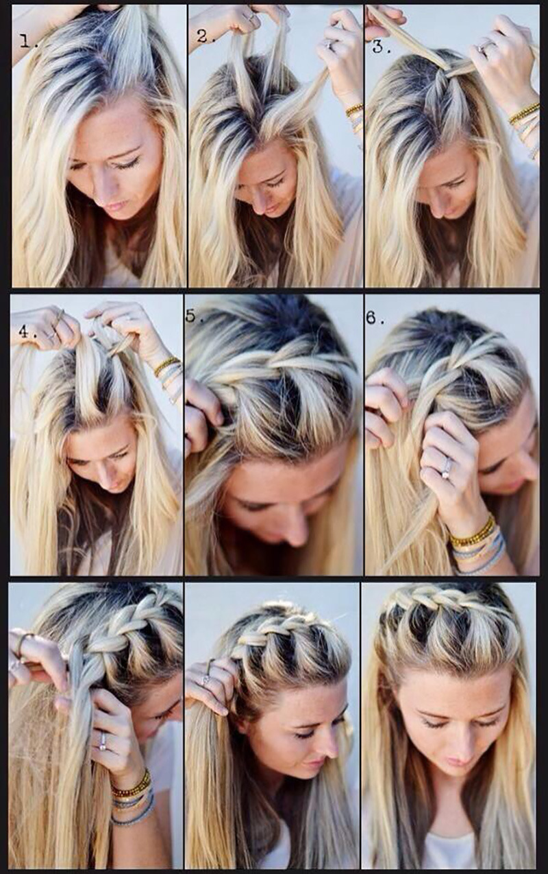 How to do french braids quickly 3