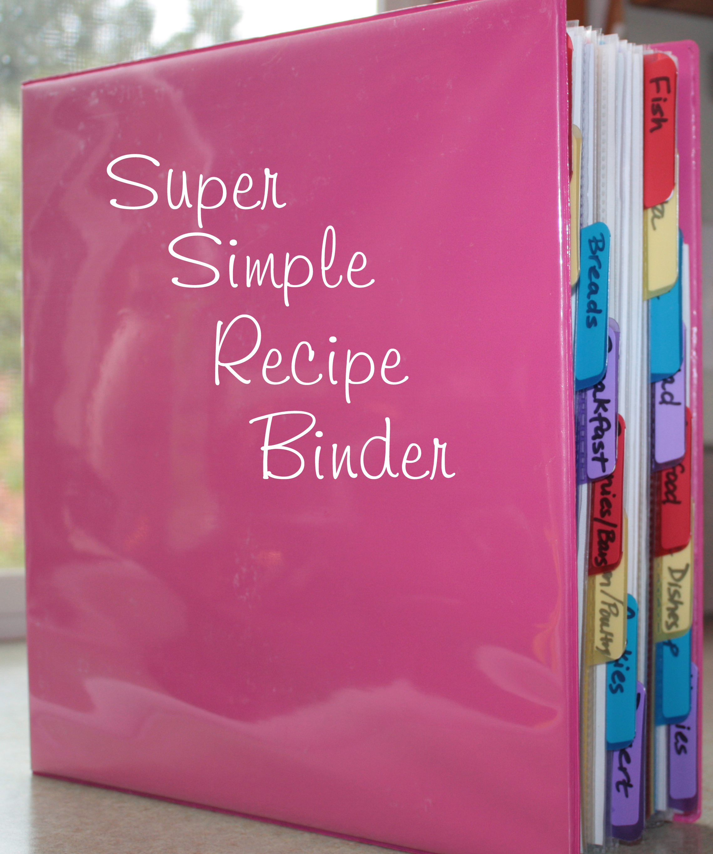 Tried and tested recipe binder