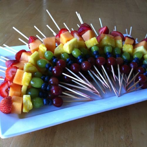 6-fruit, refreshing skewers