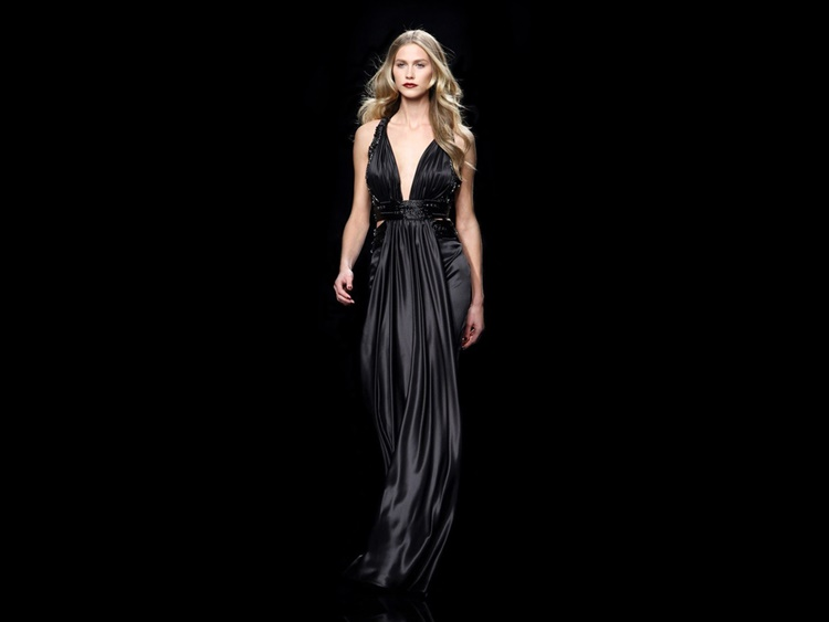 black colored, evening dress
