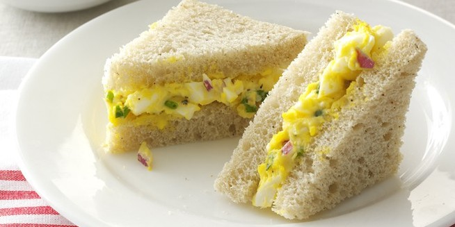 Leftover egg sandwiches