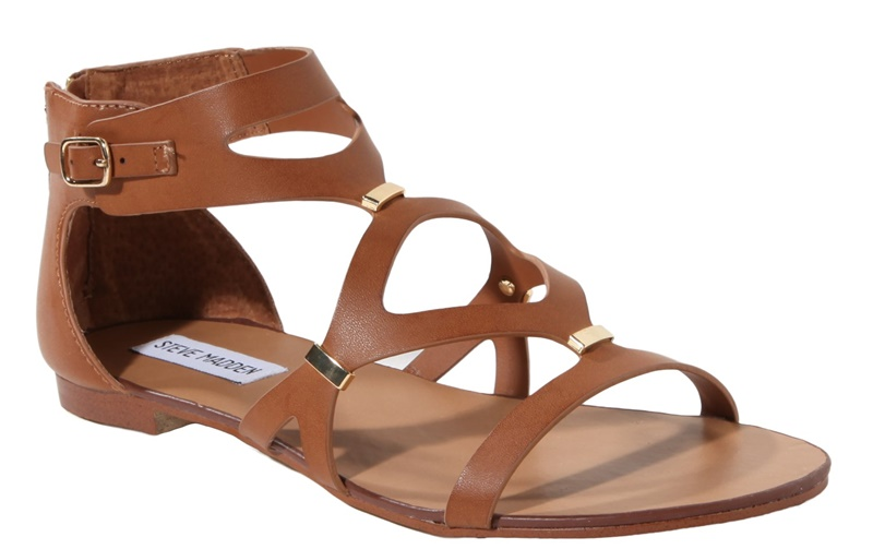Casual leathered sandals