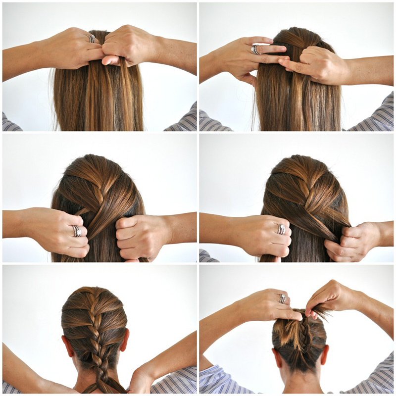 How to do french braids quickly 1