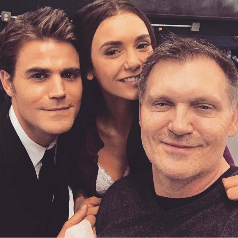 Things are Getting Emotional As Nina Dobrev is Back on The Vampire Diaries Set 1