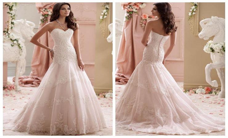 Sweetheart Trumpet Plus Size Wedding Dress with Beaded Sash